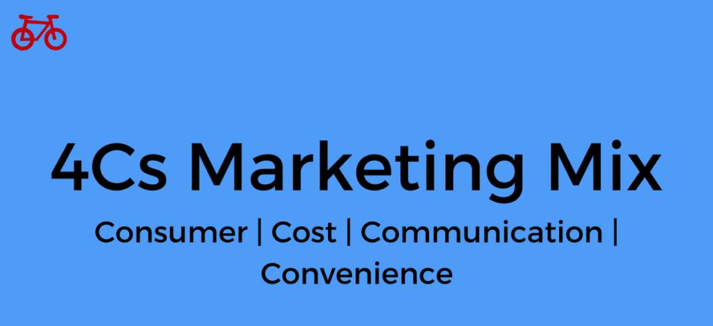 The 4Cs Marketing Mix
