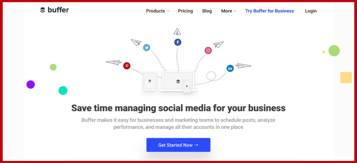 Buffer Website Content Example