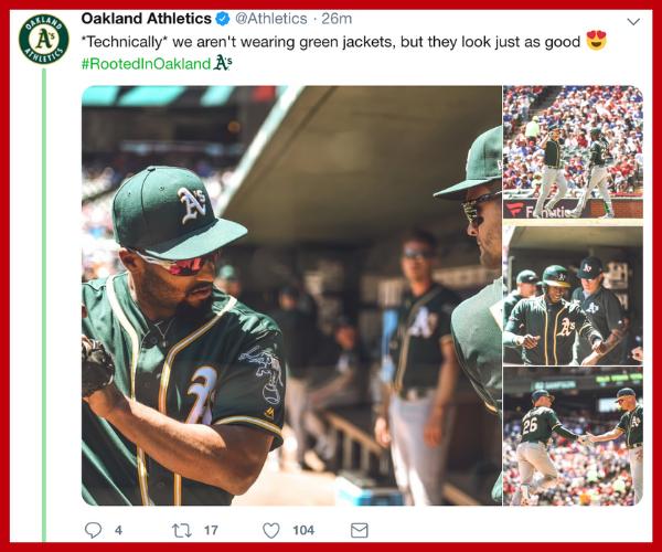 Oakland Athletics Twitter Copy